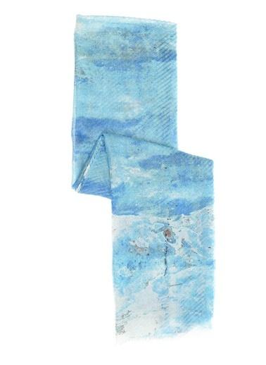 NGSTYLE Desenli Şal Mavi